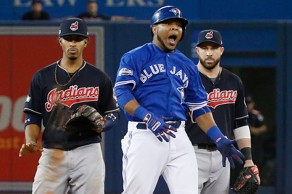 Jays play Cleveland in game 4 of the ALCS in Toronto