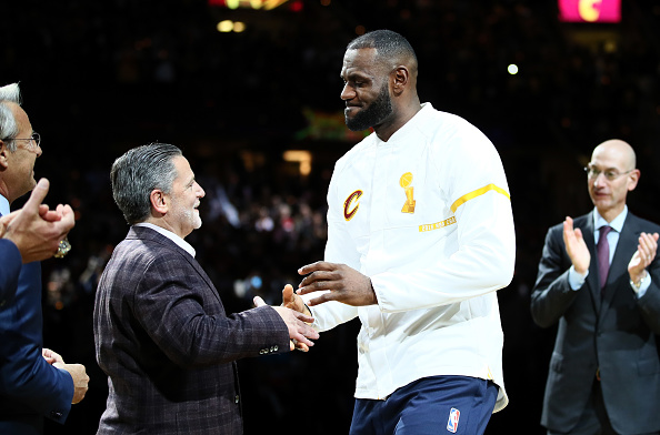 at Quicken Loans Arena on October 25, 2016 in Cleveland, Ohio.